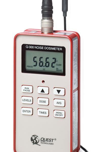 dosimetro, ruido, nr 15, q300, q400, intrinsecamente seguro, quest, calibrador acustico, ip 65, Fator duplicativo: 3, 5
