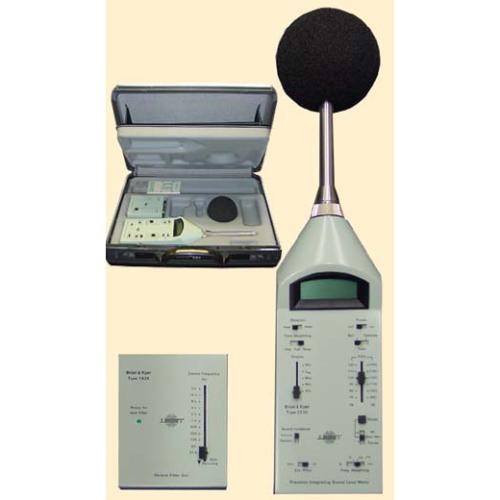 medidor nivel sonoro, bruel kjaer, decibelimetro, 1/3 banda oitava, 3m, microfone, tipo 1, tipo 2, ruido ambiental, nbr, 10151, 10152, certificado